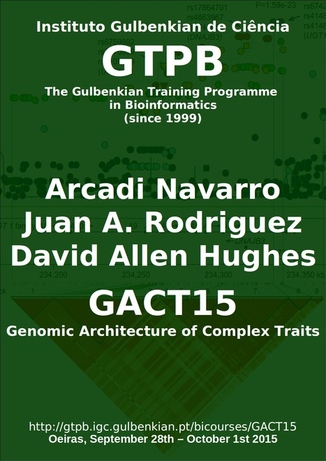 GTPB: GACT15 - Genomic Architecture of Complex Traits - Home | Bioinformatics Training | Scoop.it
