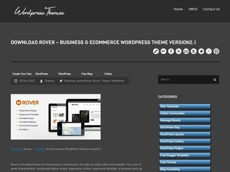 Download Rover – Business & eCommerce WordPress Theme … | Digital-News on Scoop.it today | Scoop.it