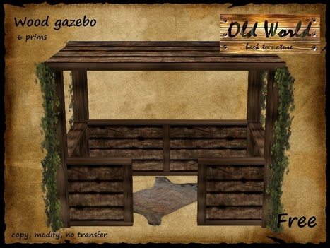 Medieval Rustic Wood Gezabo by Old World | Teleport Hub - Second Life Freebies | Second Life Freebies | Scoop.it