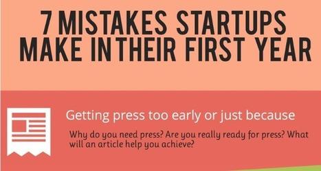 Infographie : 7 erreurs que font les startups la première année | conseil pour entreprendre | Scoop.it