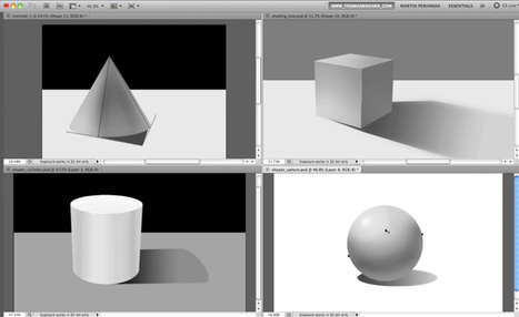 How to Apply Light, Shading, and Shadow to Round Objects | Psdtuts+ | photoshop ressources | Scoop.it