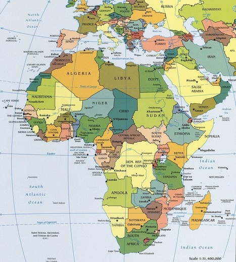 Map of Africa, Africa Maps, Countries, Landforms, Rivers, and Geography Information - Worldatlas.com | ks3humanities | Scoop.it