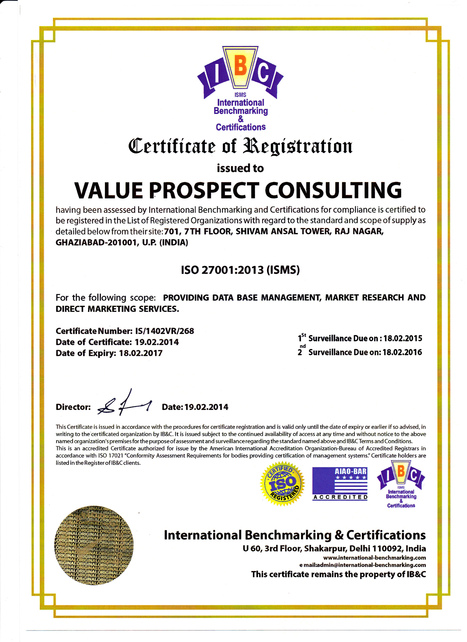 Value Prospects Consulting- ISO-27001:2005 Direct Marketing Agencies | Database Services | Value Prospect : Largest Database List Provider in India, Singapore, Malaysia, Australia | Scoop.it