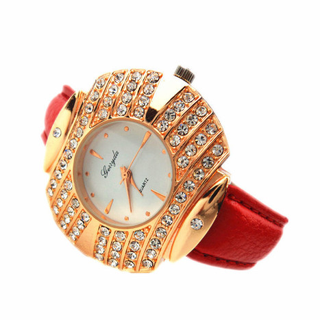 G650 Gerryda fashion lady quartz watches,crystal decoration case,gold plated case,quartz movement,PVC leather belt | Online Marketing Tips | Scoop.it