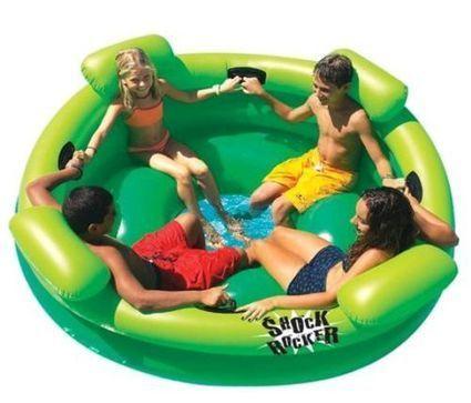 Slimline Kid Inflatable Rubber Shock Rocker Swimming Pool Fun Water Raft Float | Blue Jean Writer - Monna Ellithorpe | Scoop.it