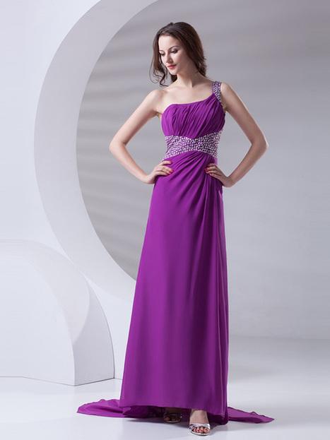 Demure A-line Floor-length Beading Chiffon Prom Dress : KissChic.com | Kisschic Fashion Dresses | Scoop.it