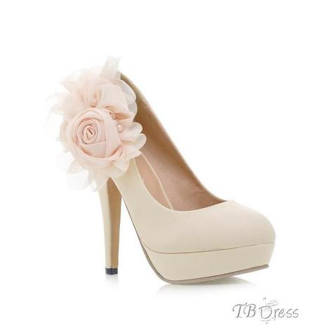 $ 33.59 Elegant Stiletto Heels with Lovely Flower Prom Shoes | fashion | Scoop.it