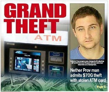 Nether Providence man admits using 80-year-old's ATM card to steal $70,000 | Delco Crime | Scoop.it