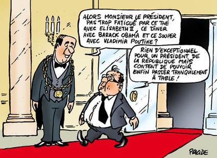 Hollande dine avec les grands de ce monde | Baie d'humour | Scoop.it