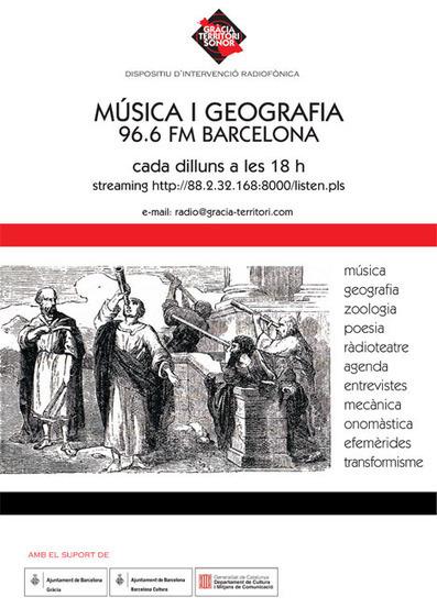 Gràcia Territori Sonor | Musica i Geografia | Barcelona | DESARTSONNANTS - CRÉATION SONORE ET ENVIRONNEMENT - ENVIRONMENTAL SOUND ART - PAYSAGES ET ECOLOGIE SONORE | Scoop.it