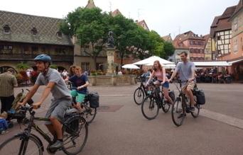 Colmar et le vignoble à vélo sans se fatiguer | Alsace Actu | Scoop.it