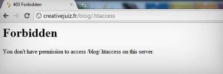Dossier WordPress – Sécuriser davantage WordPress avec le fichier .htaccess - WordPress | CreativeJuiz | Lectures web | Scoop.it