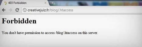 Dossier WordPress – Sécuriser davantage WordPress avec le fichier .htaccess - WordPress | CreativeJuiz | Lectures web | Scoop.it