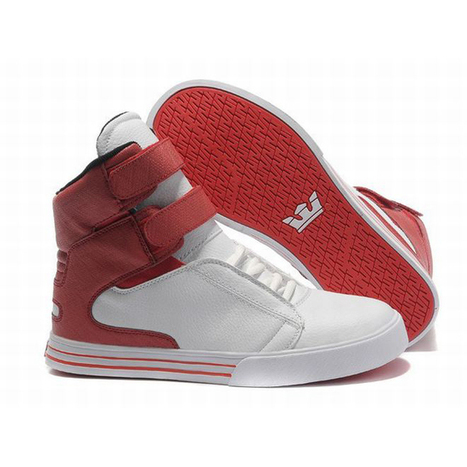 supra tk society white red men size online with high tops | popular and new list | Scoop.it
