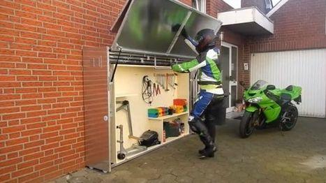 Garage téléscopique pour motos, une belle idée !   L'actu sociale des motards (par Zone-Motards.net)   Scoop.it