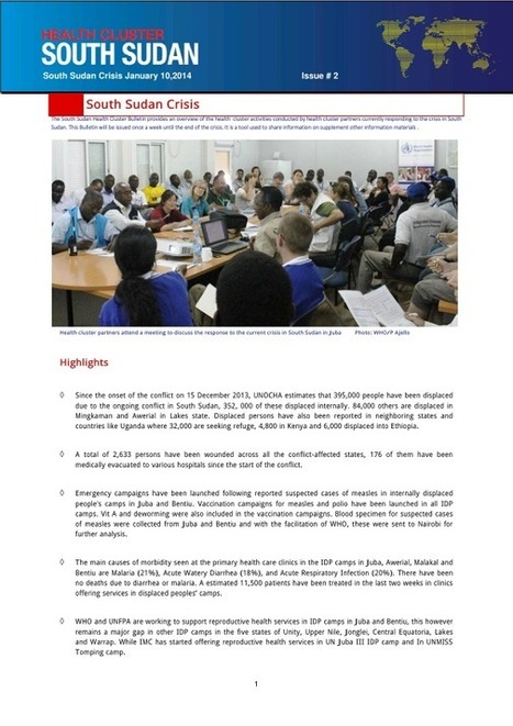 Health Cluster Bulletin South Sudan Crisis, January 10 2014, Issue ... | Health & Beauty | Scoop.it