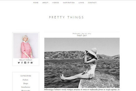 Pretty Things Blogger Theme | Blogger themes | Scoop.it