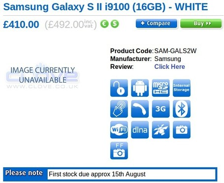 Bientôt un Samsung Galaxy S2 blanc ? | News du Geek | Scoop.it
