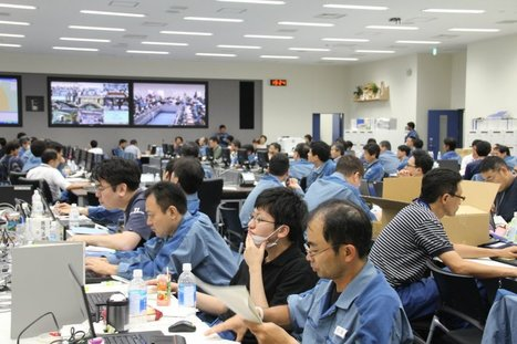 [Photos] La Salle de réunion de stabilisation au Centre de Fukushima Daiichi (1)Tepco - juillet 2011 | Facebook | Japon : séisme, tsunami & conséquences | Scoop.it