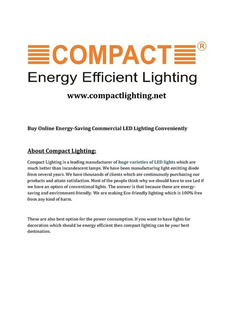 Commercial Led Lighting Products | edocr | Commercial Luminaires | Scoop.it