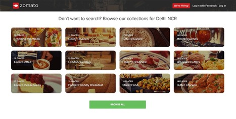 Best of Indian Web Design with Zomato.com A Clear Standout | Design Revolution | Scoop.it