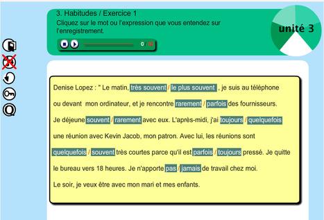 CO - exercice d'écoute sur les habitudes - niveau débutant   Tips voor de Franse les   Scoop.it