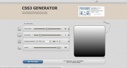 Handy Roundup of CSS3 Generators and Tools | CSS3 et HTML5 pratiques | Scoop.it