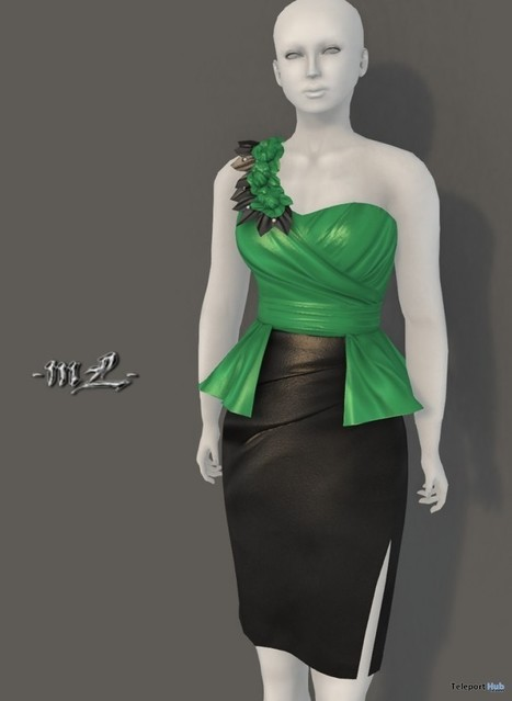 Elodie Dress Green Group Gift by monaLISA | Teleport Hub - Second Life Freebies | Second Life Freebies | Scoop.it