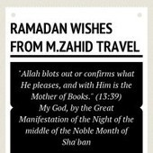 Infographic: Ramadan Wishes from M.Zahid Travel | infogr.am | Ramadan | Scoop.it