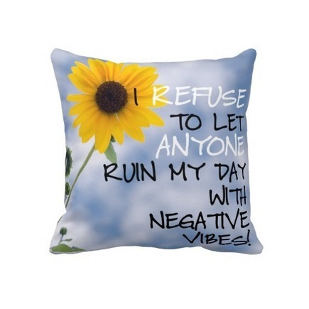 Staying Positive Text With A Sunflower In The Sky Pillows | Z Artwork | Scoop.it