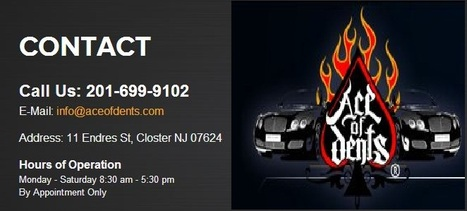 Ace of Dents- An expert in Paintless Dent Repair in New Jersey | Ace Of Dents | Scoop.it