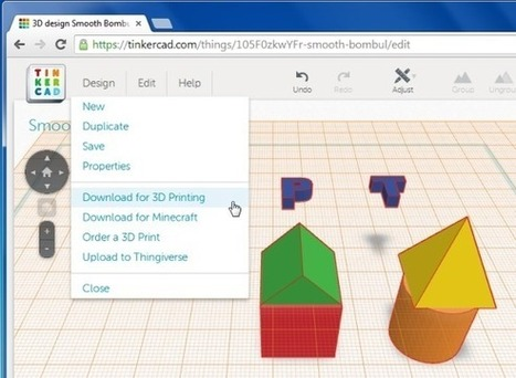 Create CAD Models For 3D Printers With Tinkercad | tecno4 | Scoop.it