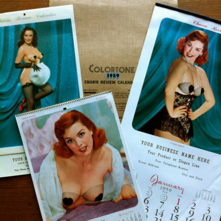 3 Vintage 1959 Colortone Charm Review Pin-up Calendar Salesman Sample Marilyn Monroe Evelyn West | Sex History | Scoop.it