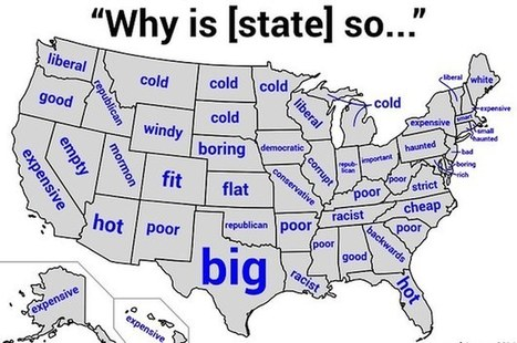 28 Maps That Will Teach You A Damn Thing About Your State For Once | Kickin' Kickers | Scoop.it
