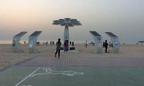 """Smart"" solar palm trees power Wi-Fi, phones in Dubai 