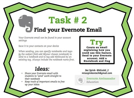 Evernote in Education Series #2 | - Miss Spink On Tech | Evernote | Scoop.it