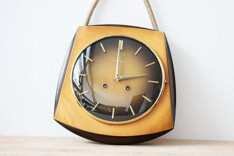 Mid Century Art Deco Wall Clock | QuiteQuainte | Scoop.it