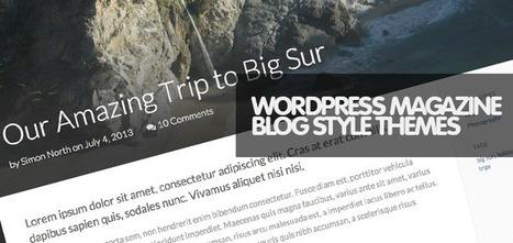 30 Awesome Responsive WordPress Blog Magazine Themes - Weblees.com | Magento | Scoop.it