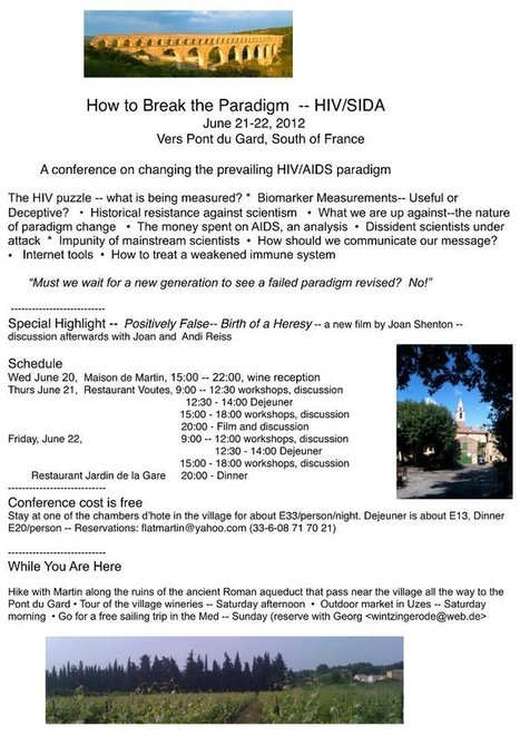 Rethinking AIDS - Activists organize dissident conference in South of France June 2012 | Health Supreme | Scoop.it