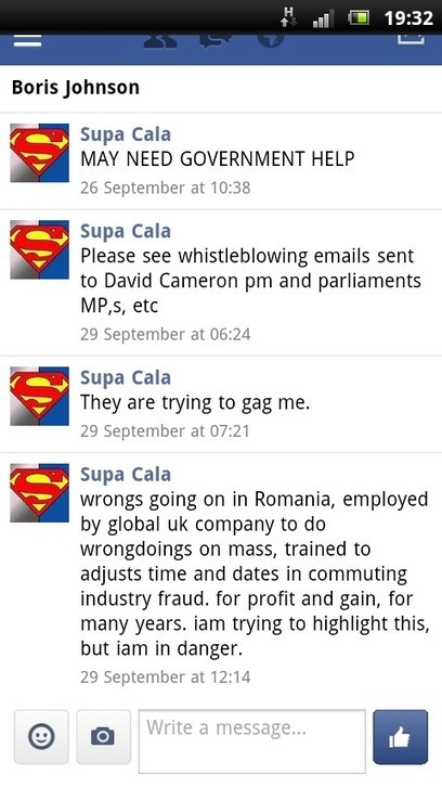 DISCLOSURE MADE TO BORIS JOHNSON, MAJOR OF LONDON, TWITTER, FACEBOOK, EMAIL. | SUPACALA1, INDUSTRIAL FRAUD WHISTLE-BLOWER | Scoop.it