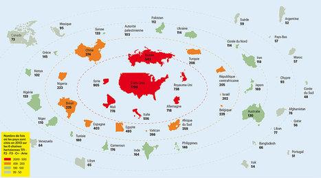 La carte du monde vue par les JT français | TICE & FLE | Scoop.it