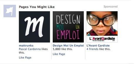 Facebook affiche la pub directement dans votre mur   Geeks   Scoop.it