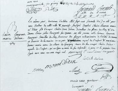 12 octobre 1770 – Baptême de Dodun de Kéroman | CGMA Généalogie | Scoop.it