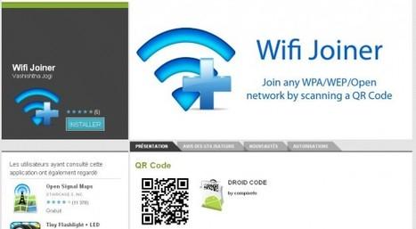 WiFi joiner pour Android pour se connecter à des réseaux WIFI en scannant un code QR   QRdressCode   Scoop.it