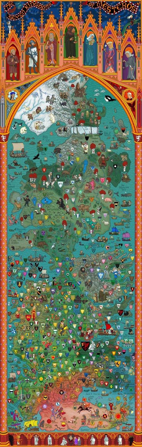 Carte du monde de Games Of Thrones | cartography & mapping | Scoop.it