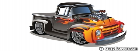 Cool Cartoon Hot Rod Pickup Truck Facebook Cover - Crazy Fb Covers - Facebook Cover Photos | Unique Facebook Covers | Crazy Fb Covers | Scoop.it