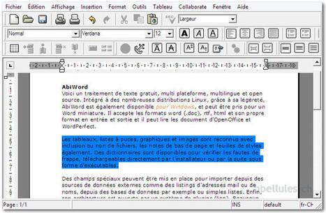 AbiWord - un traitement de texte gratuit, multiplateforme   Chroniques libelluliennes   Scoop.it