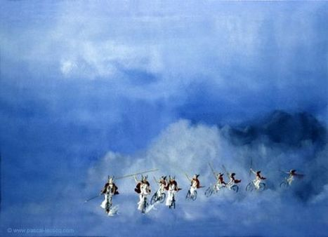 CHEVAUCHEE DES WALKYRIES - The Ride of the Valkyrie --  oil on canvas by Pascal | Art by Pascal, The painter of Blue® | Scoop.it