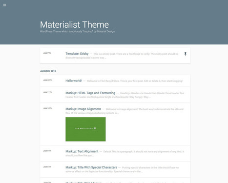 Materialist - Free Material Design WordPress Theme | Worth to Scoop it | Scoop.it