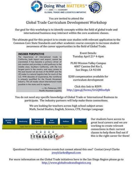 Global Trade Curriculum Workshop | San Diego Center for International Trade Development (CITD) | International Trade | Scoop.it